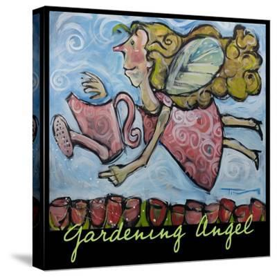 Gardening Angel Poster-Tim Nyberg-Stretched Canvas Print