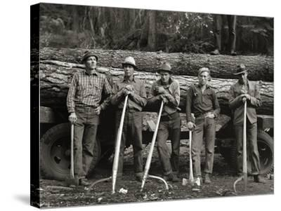American Loggers, 1939--Stretched Canvas Print
