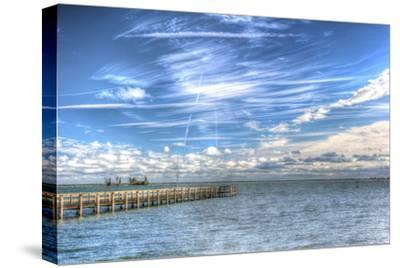 Pier and Island-Robert Goldwitz-Stretched Canvas Print