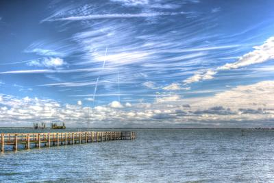 Pier and Island-Robert Goldwitz-Premium Photographic Print