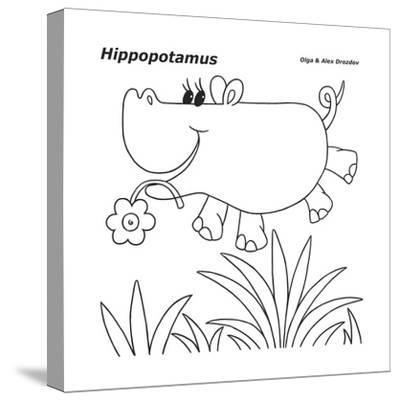 Hippopotamus-Olga And Alexey Drozdov-Stretched Canvas Print