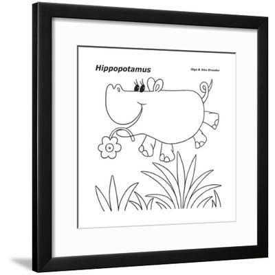 Hippopotamus-Olga And Alexey Drozdov-Framed Giclee Print
