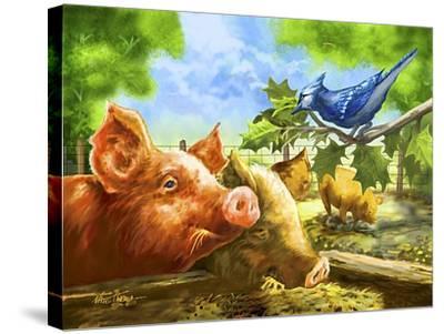 Hog Heaven-Nate Owens-Stretched Canvas Print
