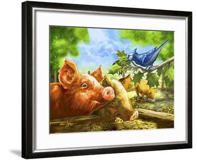 Hog Heaven-Nate Owens-Framed Giclee Print