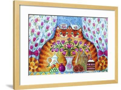 Tea Cats-Oxana Zaika-Framed Giclee Print