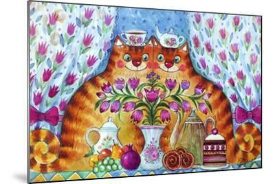 Tea Cats-Oxana Zaika-Mounted Giclee Print