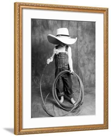 Boy with a Cowboy Hat and Lasso-Nora Hernandez-Framed Giclee Print