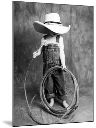 Boy with a Cowboy Hat and Lasso-Nora Hernandez-Mounted Giclee Print