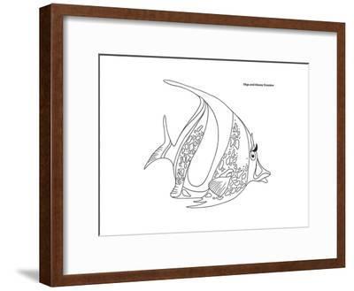 Coral Fish 11-Olga And Alexey Drozdov-Framed Giclee Print