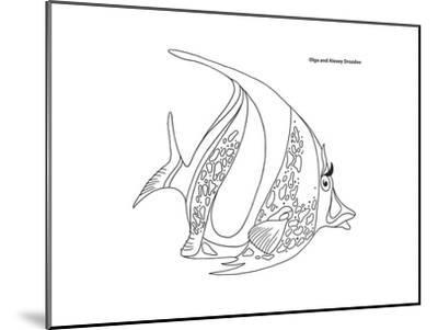 Coral Fish 11-Olga And Alexey Drozdov-Mounted Giclee Print