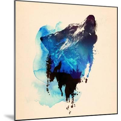 Alone as a Wolf-Robert Farkas-Mounted Giclee Print