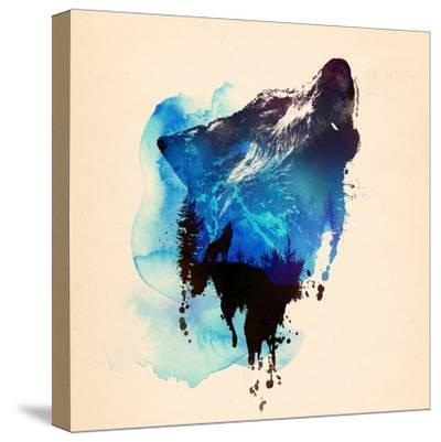 Alone as a Wolf-Robert Farkas-Stretched Canvas Print