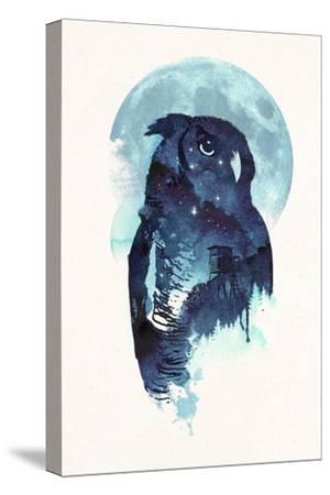Midnight Owl-Robert Farkas-Stretched Canvas Print