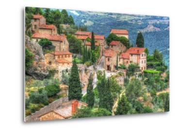 Tuscan Hilltop Town-Robert Goldwitz-Metal Print