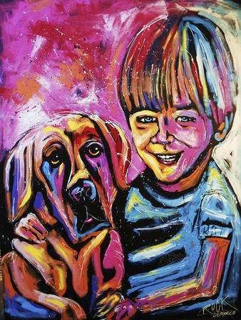 Demaio Fam Painting 001-Rock Demarco-Framed Giclee Print