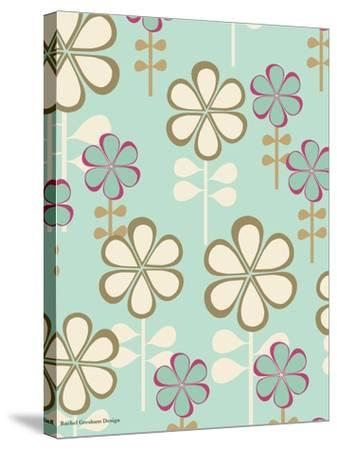 Teardrop Floral-Rachel Gresham-Stretched Canvas Print