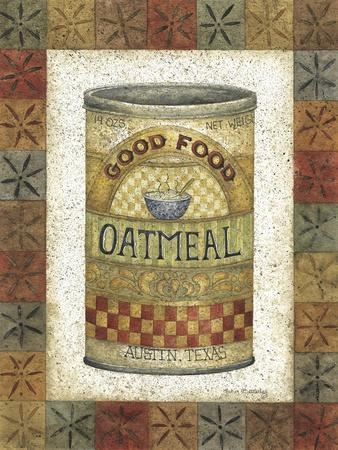 Good Food Oatmeal-Robin Betterley-Stretched Canvas Print