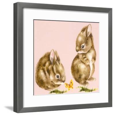 Bunnies-Peggy Harris-Framed Giclee Print