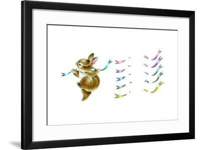 Spring Fling - Dancing Bunny-Peggy Harris-Framed Giclee Print