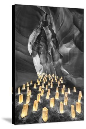 Candle Canyon BW - Pop-Moises Levy-Stretched Canvas Print
