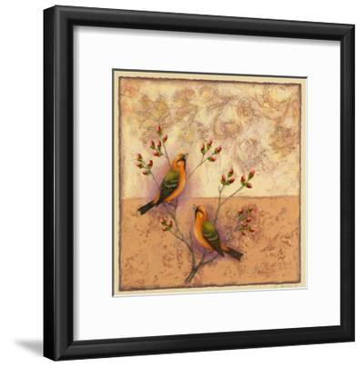 Two Orange Birds-Rachel Paxton-Framed Giclee Print