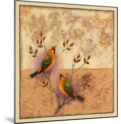 Two Orange Birds-Rachel Paxton-Mounted Giclee Print