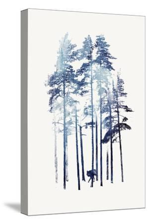 Winter Wolf-Robert Farkas-Stretched Canvas Print