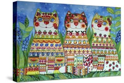 Magic Happy Cats!-Oxana Zaika-Stretched Canvas Print