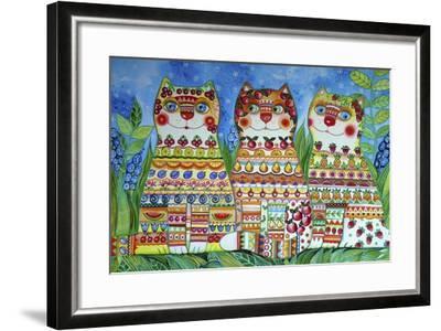 Magic Happy Cats!-Oxana Zaika-Framed Giclee Print