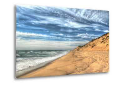 Footprints on Cape Cod Shore-Robert Goldwitz-Metal Print