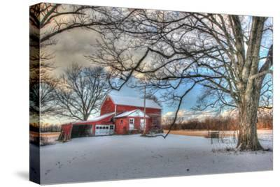 Winter Barn-Robert Goldwitz-Stretched Canvas Print