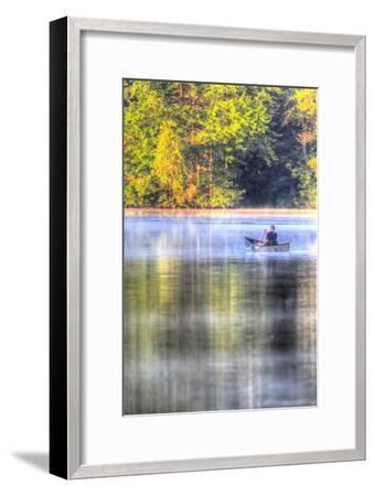 Canoe on the Lake Vertical-Robert Goldwitz-Framed Premium Giclee Print