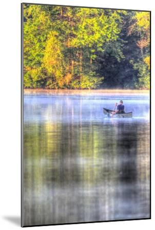 Canoe on the Lake Vertical-Robert Goldwitz-Mounted Premium Giclee Print