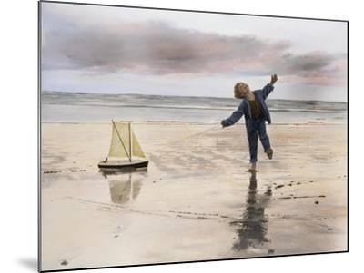 Boy, Fishing-Nora Hernandez-Mounted Giclee Print