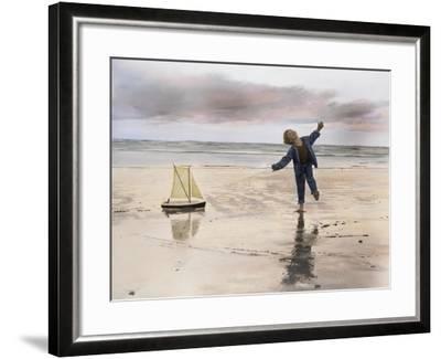 Boy, Fishing-Nora Hernandez-Framed Giclee Print
