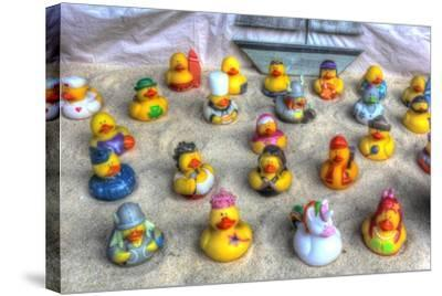 Rubber Duckies-Robert Goldwitz-Stretched Canvas Print