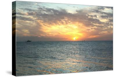 Key West Sunset VII-Robert Goldwitz-Stretched Canvas Print