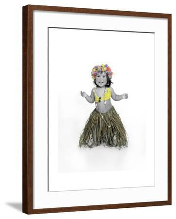 Little Girl Dressed as Hula Dancer-Nora Hernandez-Framed Giclee Print