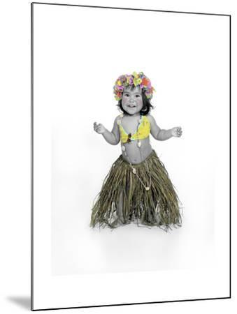 Little Girl Dressed as Hula Dancer-Nora Hernandez-Mounted Giclee Print