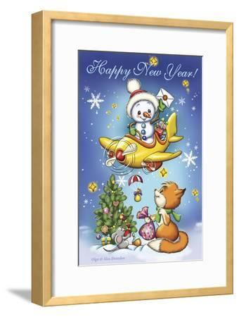 New Year's Air Mail-Olga And Alexey Drozdov-Framed Giclee Print
