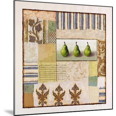 Three Standing Pears-Rachel Paxton-Mounted Giclee Print
