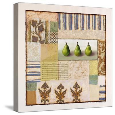 Three Standing Pears-Rachel Paxton-Stretched Canvas Print