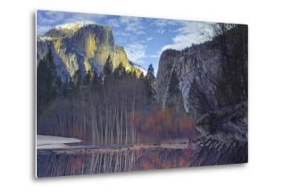 Yosemite Reflection 2 Color-Moises Levy-Metal Print