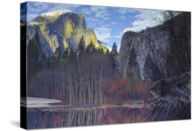 Yosemite Reflection 2 Color-Moises Levy-Stretched Canvas Print