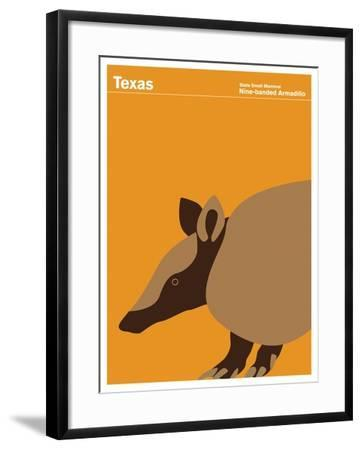 State Poster TX Texas--Framed Giclee Print