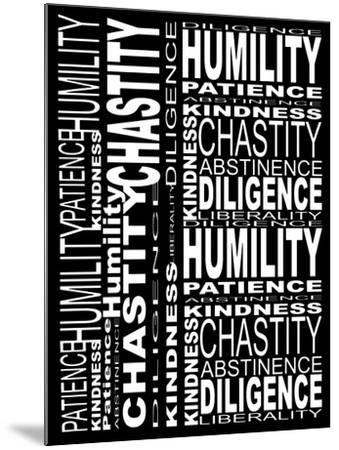 Virtues-Roseanne Jones-Mounted Giclee Print