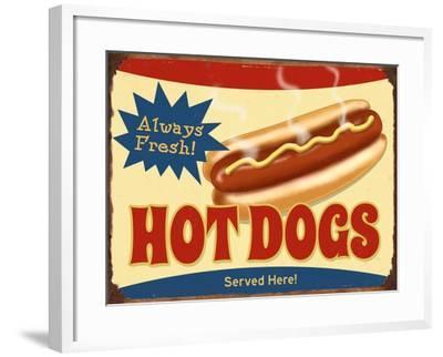 Always Fresh Hot Dogs-Retroplanet-Framed Giclee Print