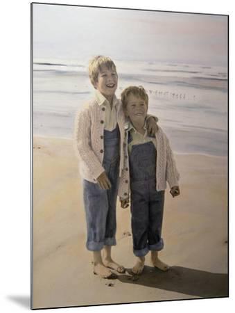 Two Boys on Beach-Nora Hernandez-Mounted Giclee Print