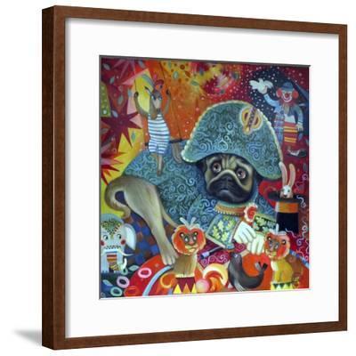 Circus Pug-Oxana Zaika-Framed Giclee Print
