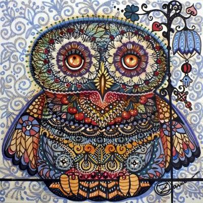 Magic Graphic Owl-Oxana Zaika-Framed Giclee Print